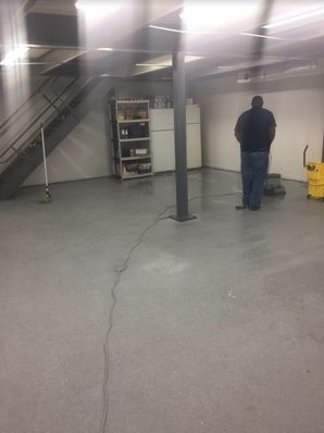 Before & After VCT Floor Cleaning in Capitol Heights, MD (1)